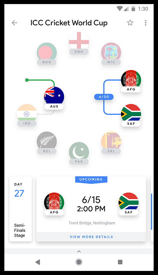 Google - Cricket World Cup